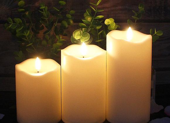 Flameless Candle Set - 3 Piece
