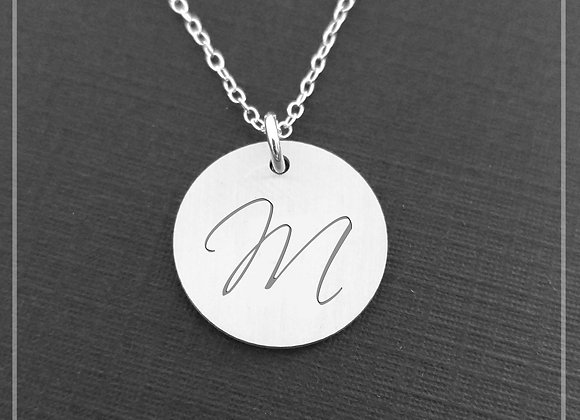 Sterling Silver Personalized Necklace - Monogrammed