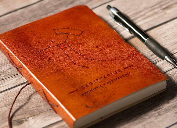 Sagittarius | Leather Journal | Handmade