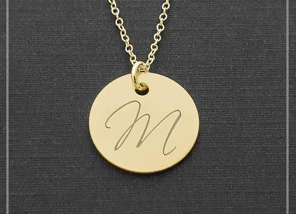 14k Gold Personalized Necklace - Monogrammed