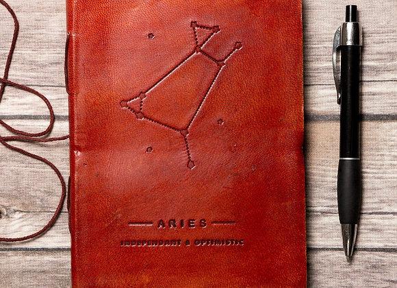 Aries | Genuine Leather Journal | Handmade