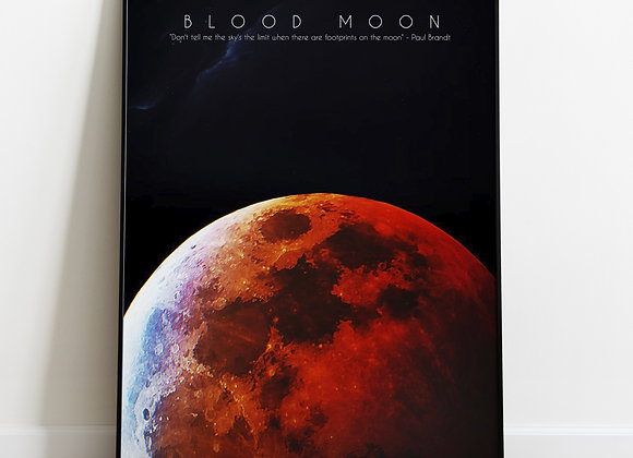 Blood Moon Poster | Professionally Printed