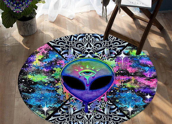 Third Eye Alien, Ohm and other Designs - Non-Slip Rug
