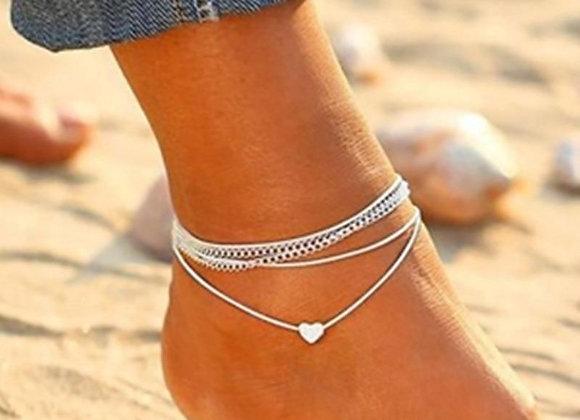 Bohemian Anklet Heart Bracelet