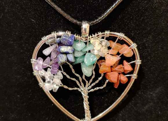 Necklace, Tree of Life Heart shaped