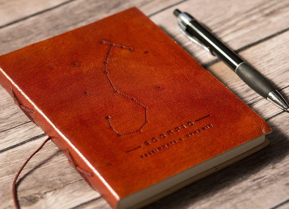 Scorpio | Leather Journal | Handmade