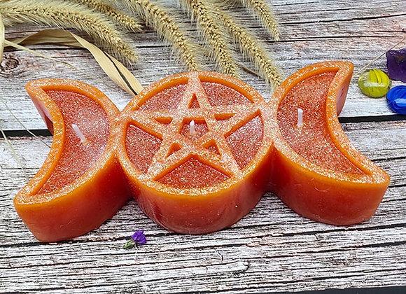 Triple Goddess Ritual Candle
