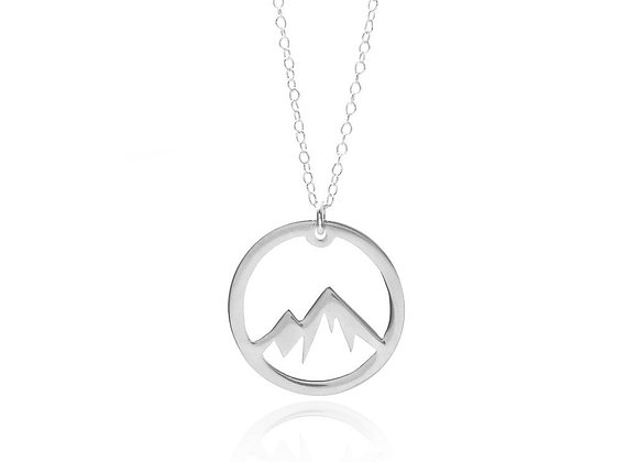 Mountain Adventure Necklace - Solid Sterling Silver
