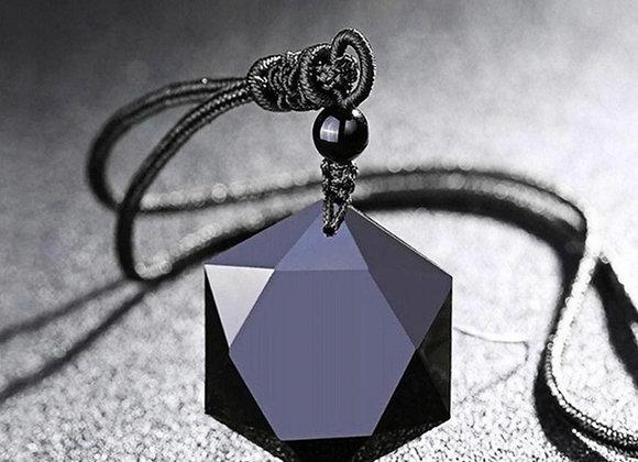 Necklace, Black Obsidian
