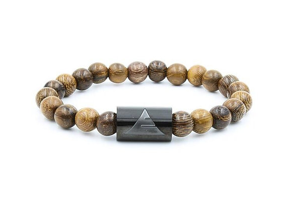 Dark Brown Wood Bracelet