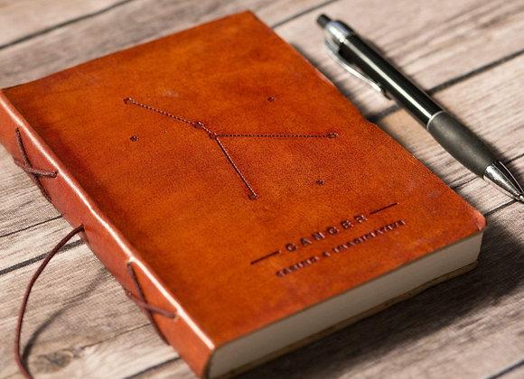Cancer | Leather Journal | Handmade
