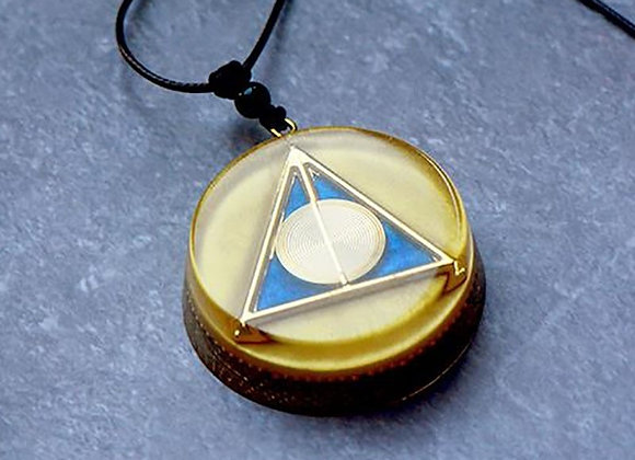 Deathly Hallows - Copper Orgonite Necklace