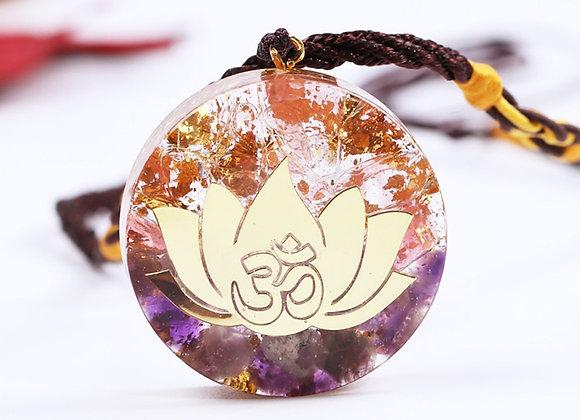 Orgonite Pendant - Amethyst Lotus