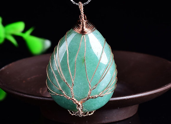 Wrapped Tree of Life Pendant Necklace