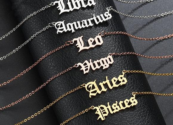 Zodiac Letter Necklace