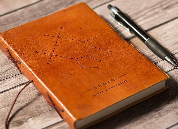 Gemini | Genuine Leather Journal | Handmade