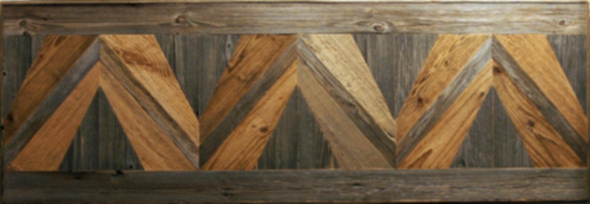 декоративное панно RN04 из амбарной доски двух цветов - серой и коричневой