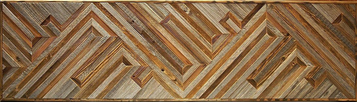прямоугольное декоративное панно RN11 из старой обшивочной доски