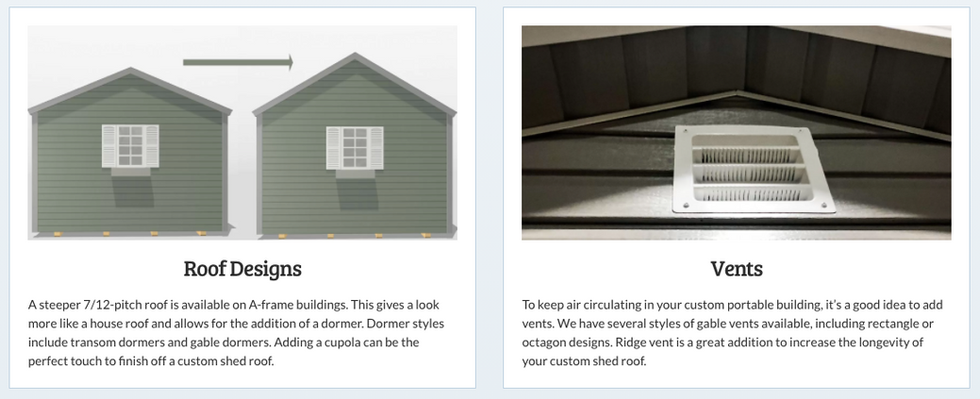 Roof Designs/Vents