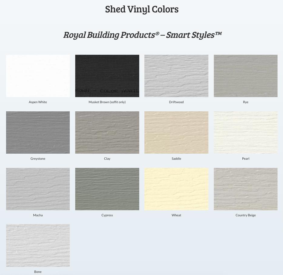 Vinyl Colors (Standard)