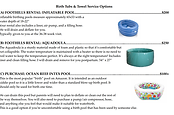 Birth Tubs & Towel Service