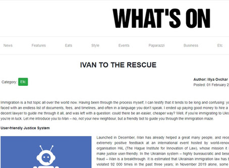 """iVan to the rescue"" by What's On magazine"