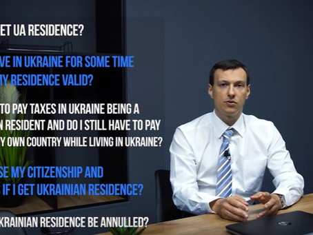 Video interview re How do I get Ukrainian residence