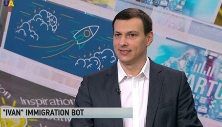 Interview on UATV English News about iVan, an artificial immigration lawyer