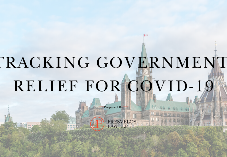 Tracking Government Relief for COVID-19