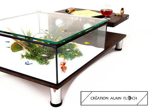 Table basse Aquarium ANNABELIA 20 LED - Filtration 200 L/H