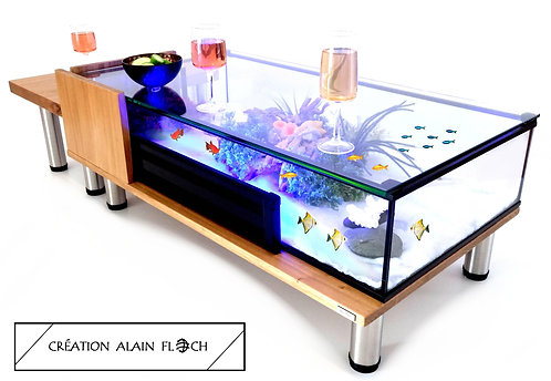 Table basse Relaxante & Anti Stress MODULABLE 127 cm - Aquarium Terrarium