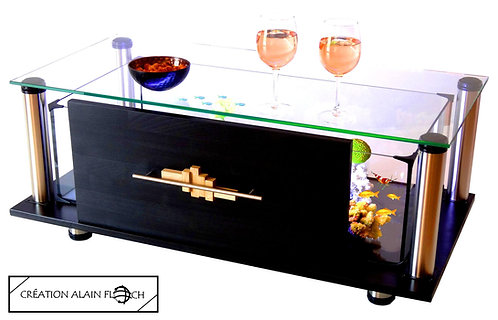 Table basse Sculpture OLISTIK- Aquarium Terrarium