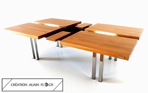 Table basse design ETHNIKA 121 x 71 cm - Eclairage puissant 14 LED sans fil