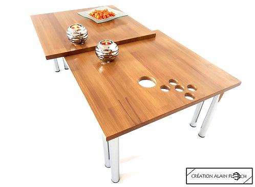 Table basse EXPRESSION - Design bien-être avec Sculptures relaxantes