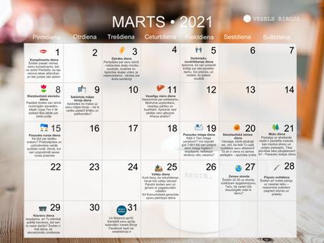 Vesels Birojs kalendārs martam