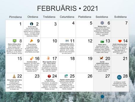 Vesels Birojs kalendārs februārim