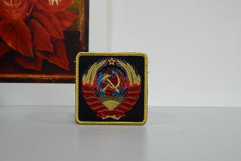 Патч, герб СССР, нашивка с липучкой. Р