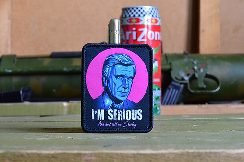 "Патч, нашивка ""I'm Serious"" с липучкой."