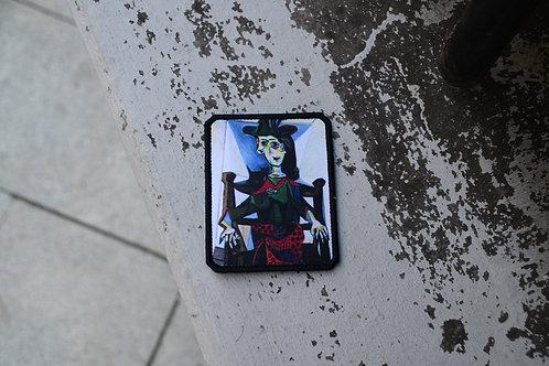 Патч картина Пабло Пикассо Дора Маар с кошкой с липучкой.