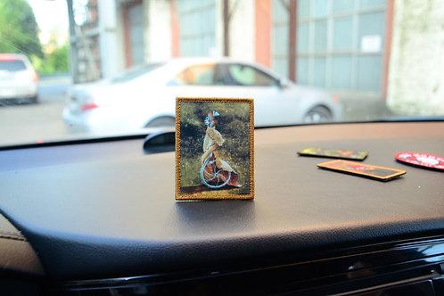 Нашивка, патч картина Ремедиос Варо фантастическое животное с липучкой.