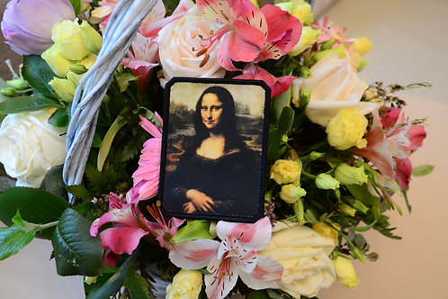 Патч Мона Лиза, Джоконда Леонардо да Винчи с липучкой.