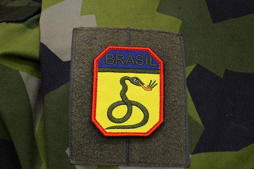 Патч, нашивка, Курящие Змеи, Бразилия,  Вторая Мировая война