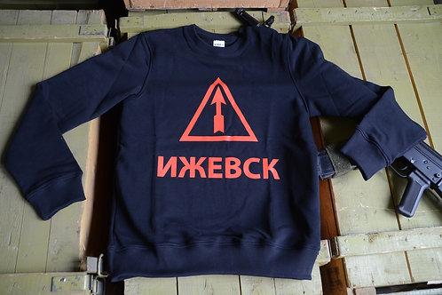 Толстовка (свитшот) с логотипом Ижевского завода