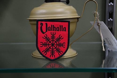 Патч, нашивка Шлем ужаса и  надпись Valhalla.