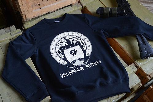 Черный свитшот (толстовка) Valhalla Awaits.