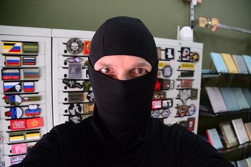 Черная балаклава, подшлемник, маска