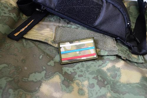 Патч триколор Россия в мультикаме С липучкой