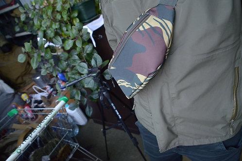Поясная сумка, подсумок с патч панелью в Родезийском камуфляже.