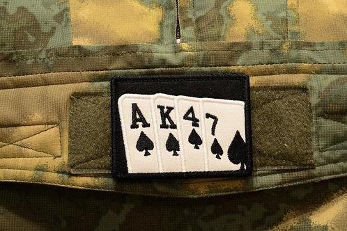 Нашивка, патч игральные карты, АК-47