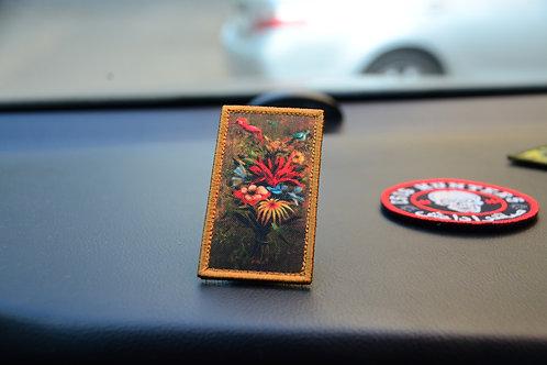Нашивка, патч картина Ремедиос Варо букет цветов с липучкой.